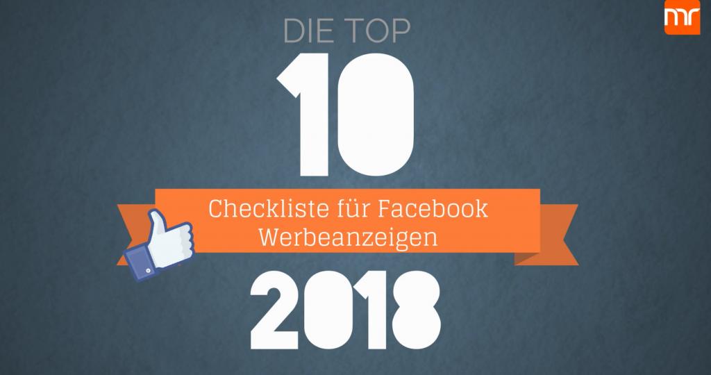 TOP 10 Checkliste Werbeanzeigen