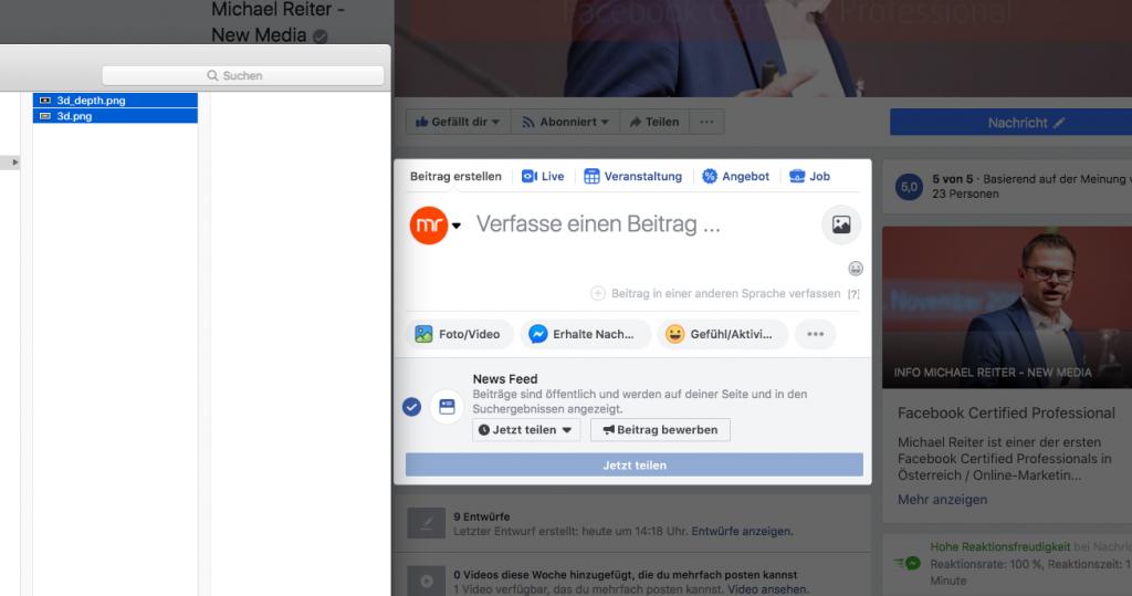 Facebook 3D-Foto Anleitung