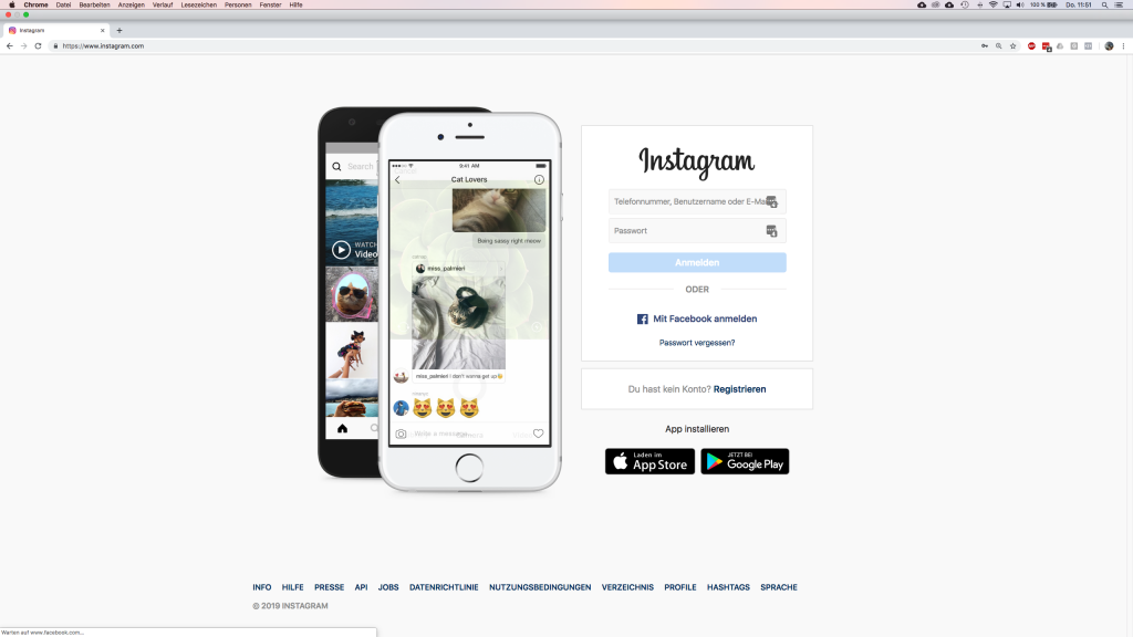 Instagram Postings und Stories vom Desktop aus