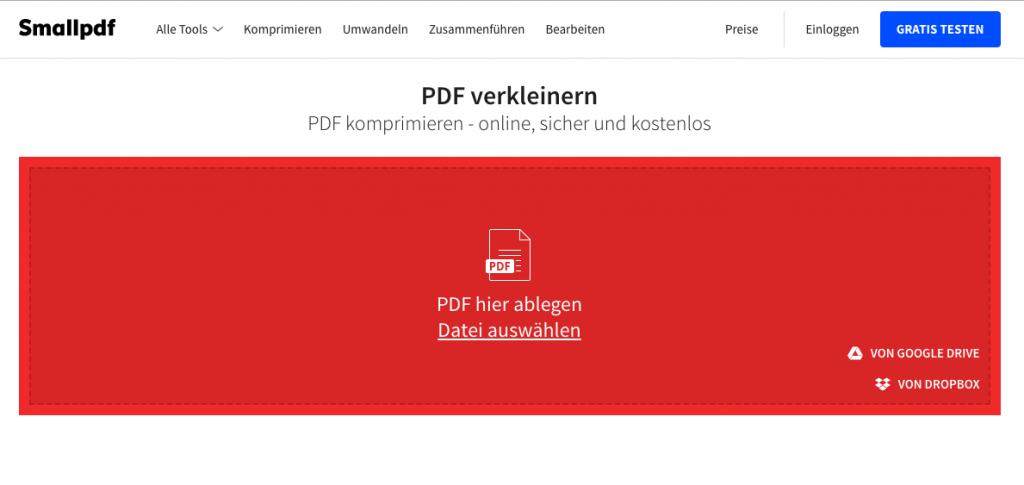 Effizienter Arbeiten mit Online-Tools smallpdf