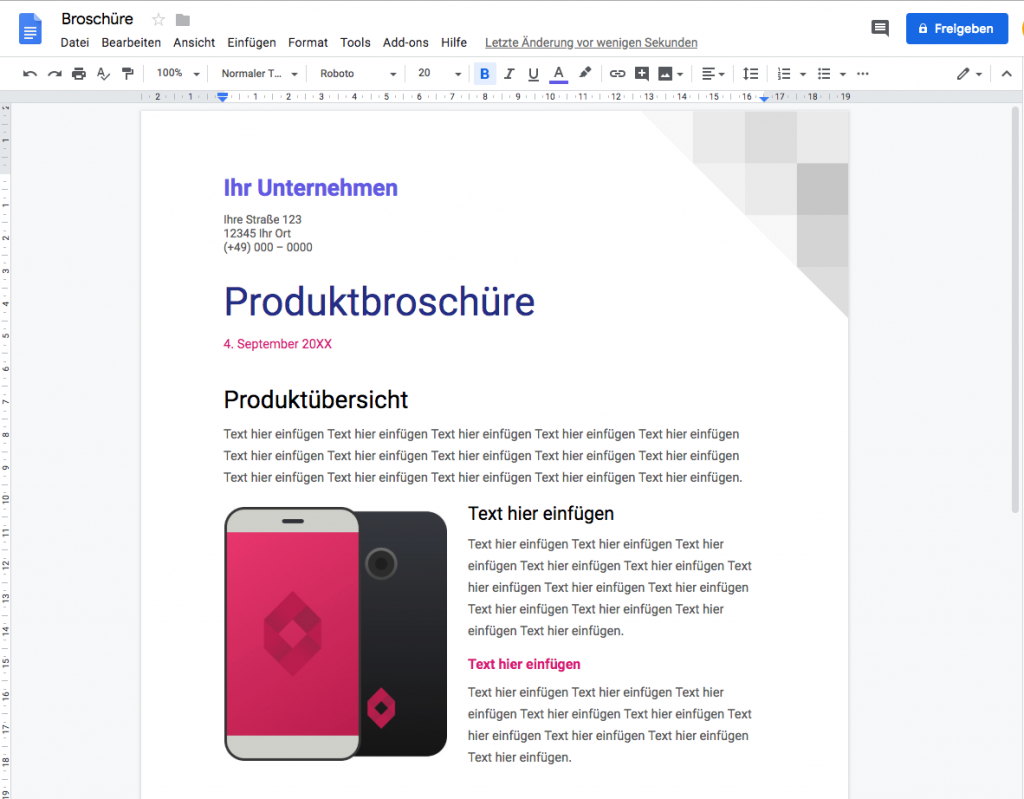 Effizienter Arbeiten mit Online-Tools, google docs